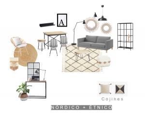proyecto de decoracion nordico etnico
