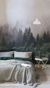 papel pintado con bosque