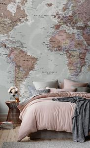 papel pintado mapa mundi
