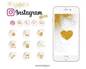 iconos instagram dorado