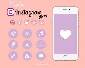 iconos instagram violeta