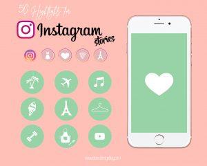 iconos instagram verde